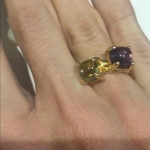 Tiffany & Co. Jewelry - Tiffany Amethyst Yellow Gold Sugar Stack Ring